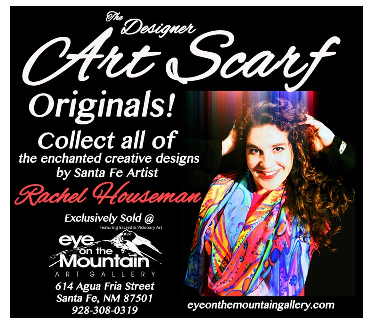 Rachel Houseman, ColorScapes Art Scarf, Wearable Art, Collectable Scarves