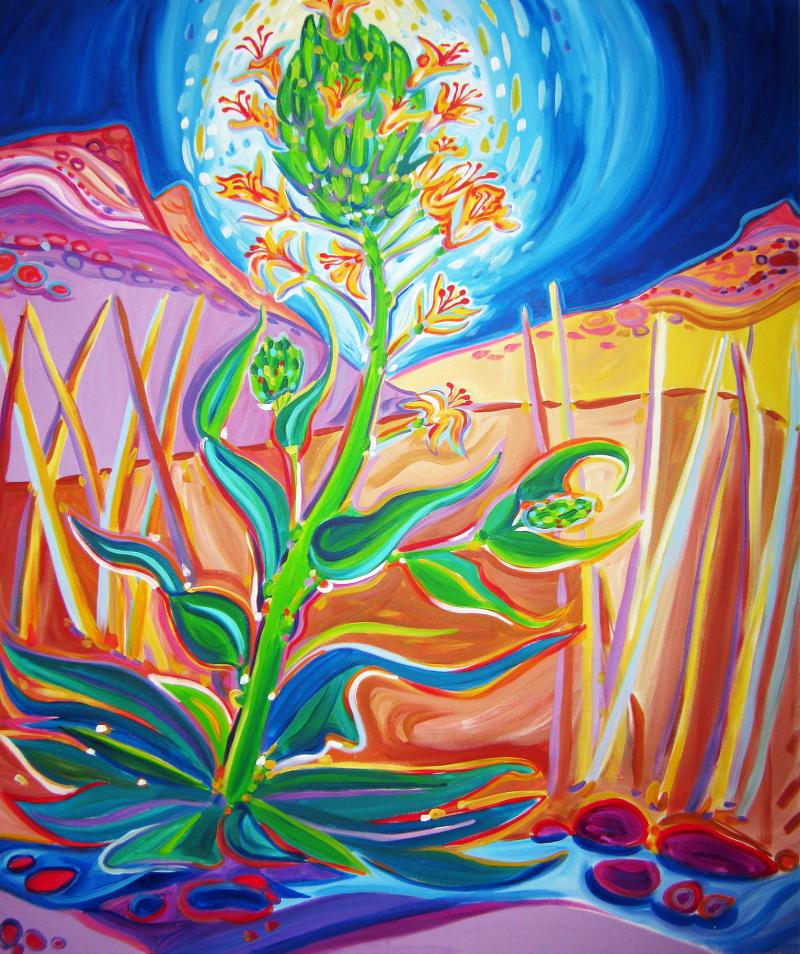 Rachel Houseman, ColorScapes Fine Art, ColorScapes, Desert Plants, Colorful Art
