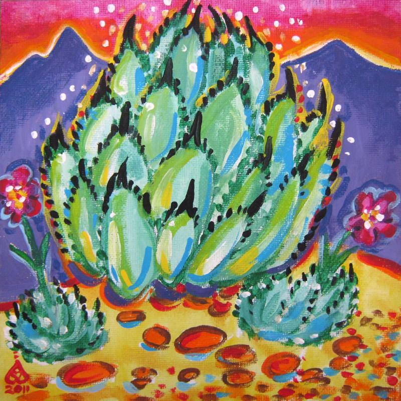 Rachel Houseman, Agave, ColorScapes, Desert Plants, Colorful Art