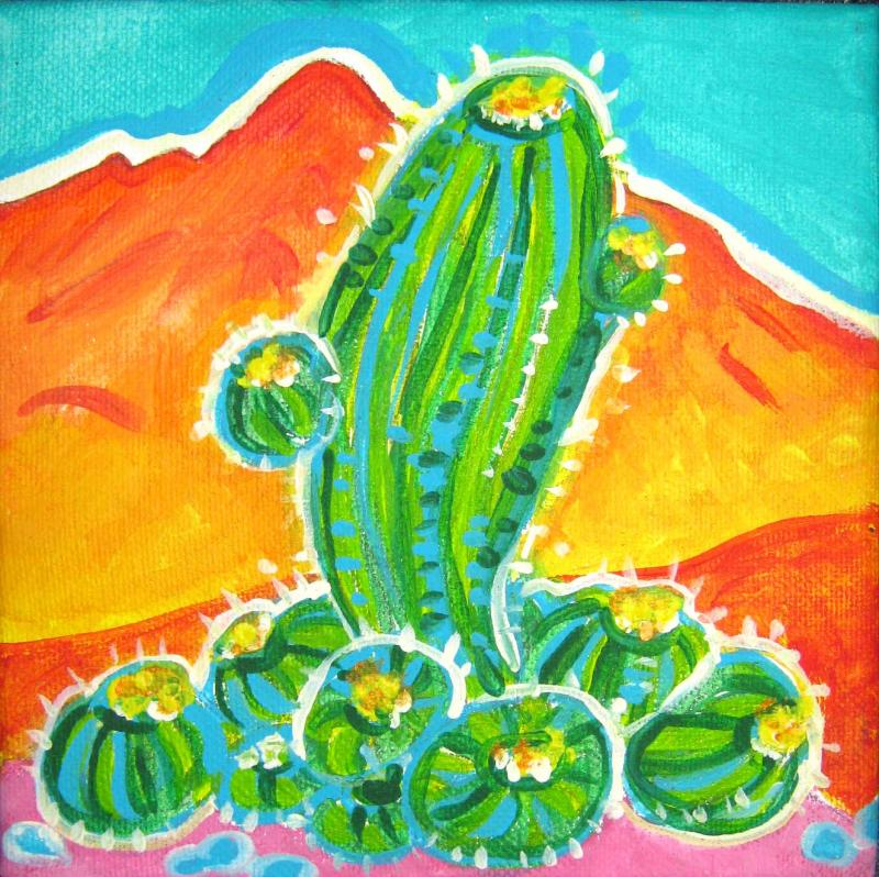 Rachel Houseman, Cactus, ColorScapes, Desert Plants, Colorful Art