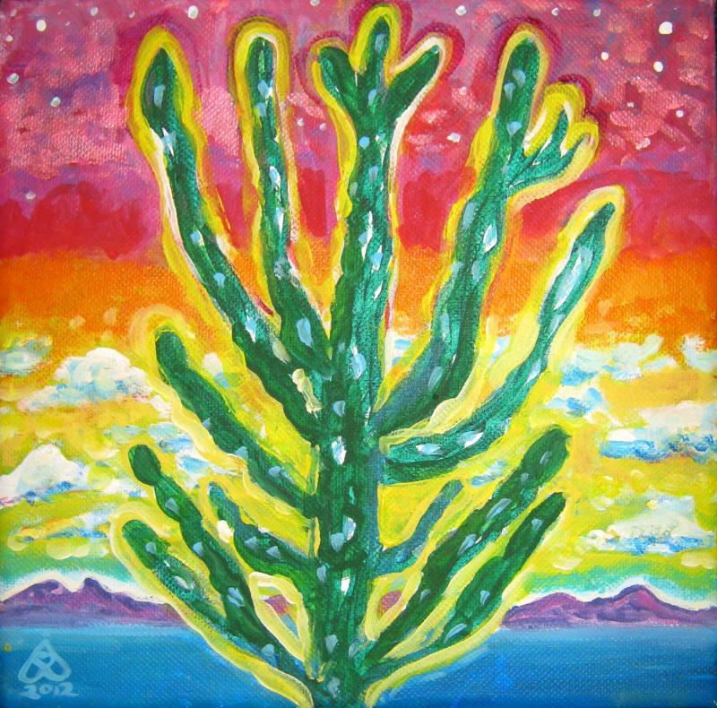 Rachel Houseman, Candle Cactus. ColorScapes Fine Art, ColorScapes, Desert Plants