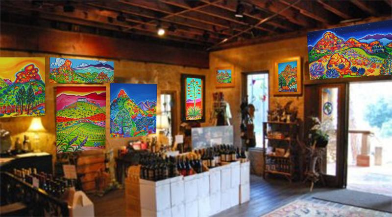Rachel Houseman, Cornell Winery, Malibu Art Show, ColorScapes