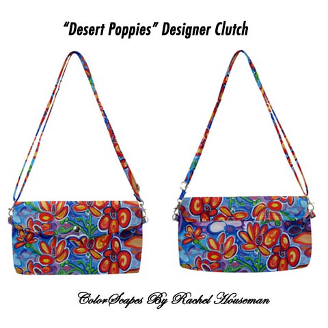 Rachel Houseman, Designer, Purse, Clutch, ColorScapes, Handbag, Southwest Purse