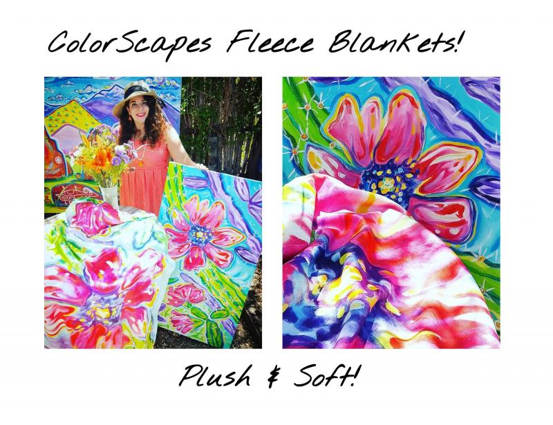 Rachel Houseman,  Plush Fleece Blankets,  Home Decor, ColorScapes, Santa Fe Art