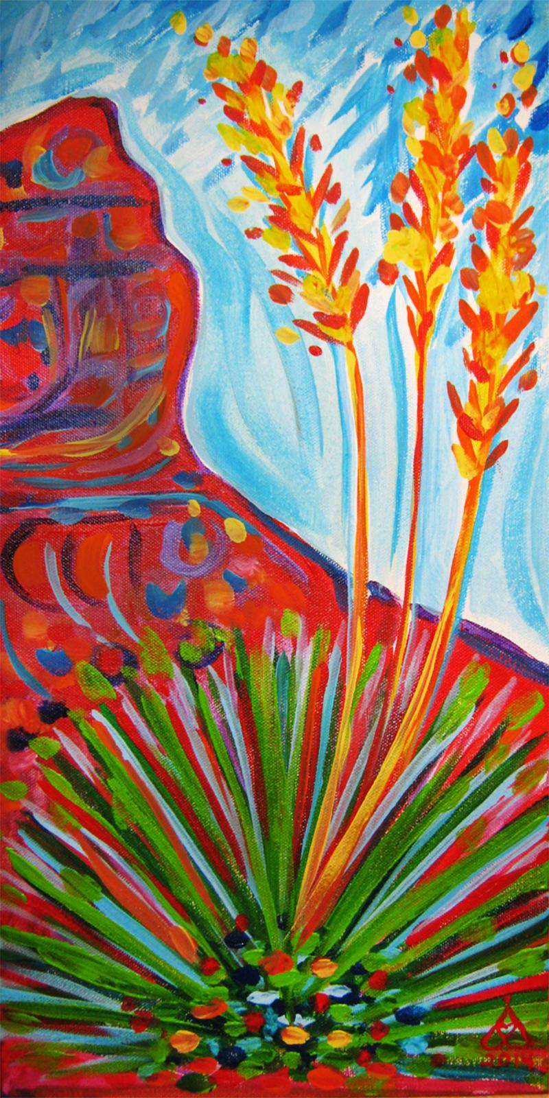 Rachel Houseman, Yucca, ColorScapes, Desert Plants, Colorful Art