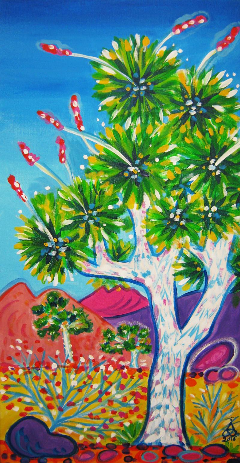 Rachel Houseman, Joshua Tree, ColorScapes, Desert Plants, Colorful Art