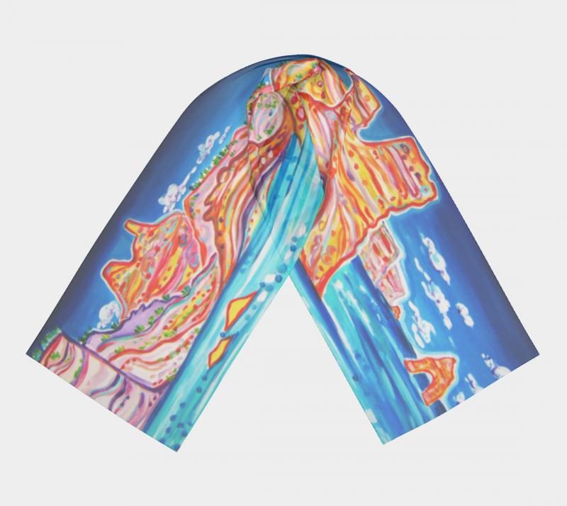 Rachel Houseman, Art Scarf, Greek Fashion, Kleftico Cave, Milos Art Scarf, Art