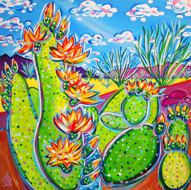 Rachel Houseman, Santa Fe Art, Super Blooms, Santa Fe Artist, ColorScapes