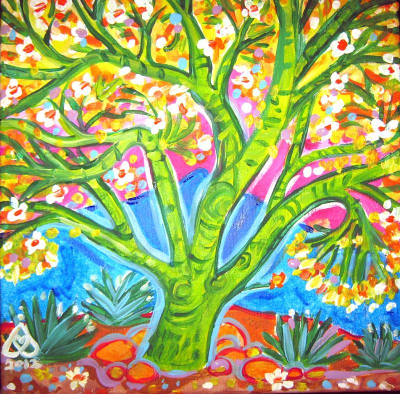 Rachel Houseman, Palo Verde, ColorScapes, Desert Plants, Colorful Art