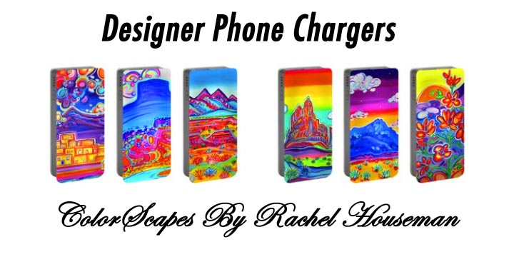 Cellphone Chargers, ColorScapes, Travel Gear, Charger, Designer Phone Charger