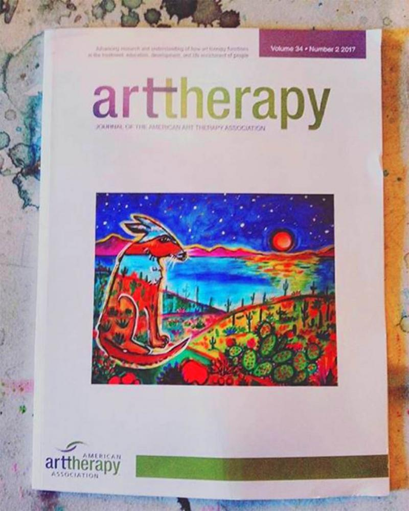 Rachel Houseman, Journal of the American Art Therapy Assoication, Cover Art