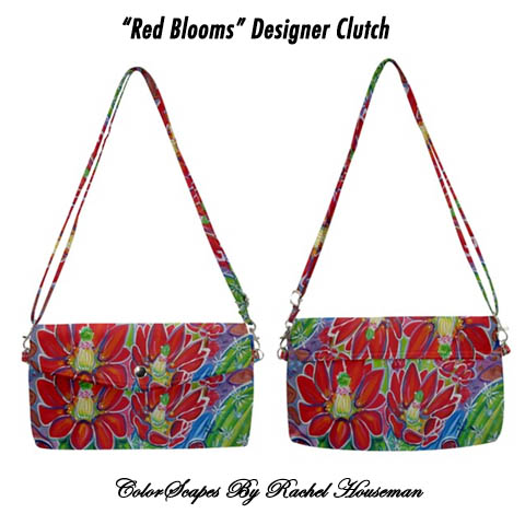 Rachel Houseman, Designer, Purse, Clutch, ColorScapes, Cactus, Southwest, Art