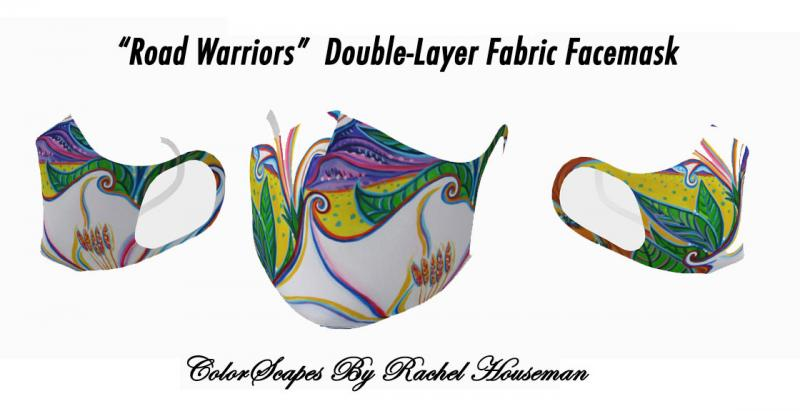 Double Layered, Fabric Face Mask, Rachel Houseman, ColorScapes, Facemasks, mask