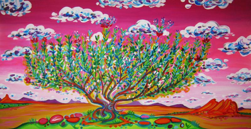 Rachel Houseman, Sage, ColorScapes, Desert Plants, Colorful Art