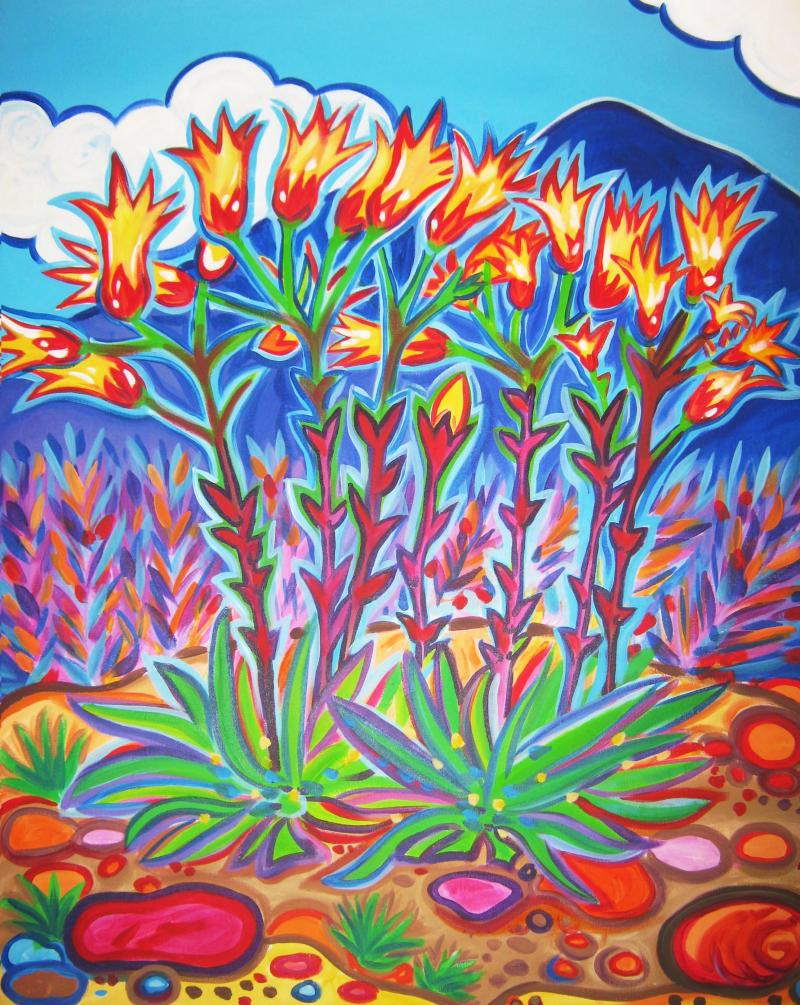Rachel Houseman, Succulents, ColorScapes, Desert Plants, Colorful Art