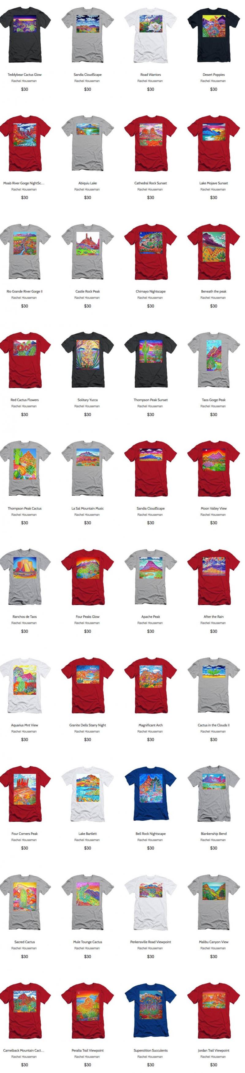 Rachel Houseman, T-Shirts, Online Gifts, ColorScapes T-Shirts, Gift Ideas, Art