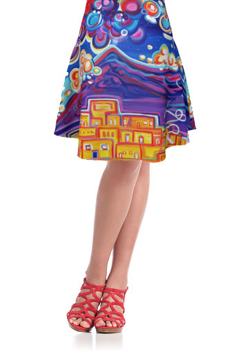 Flare Skirt, ColorScapes, Fine Art, Fashions, Skirt, Strech, Colorful, Southwest
