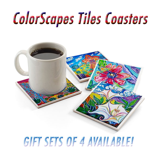 Coaster, Coaster Set, Art Tiles, Art Coasters, ColorScapes Fine Art, Gift Idea