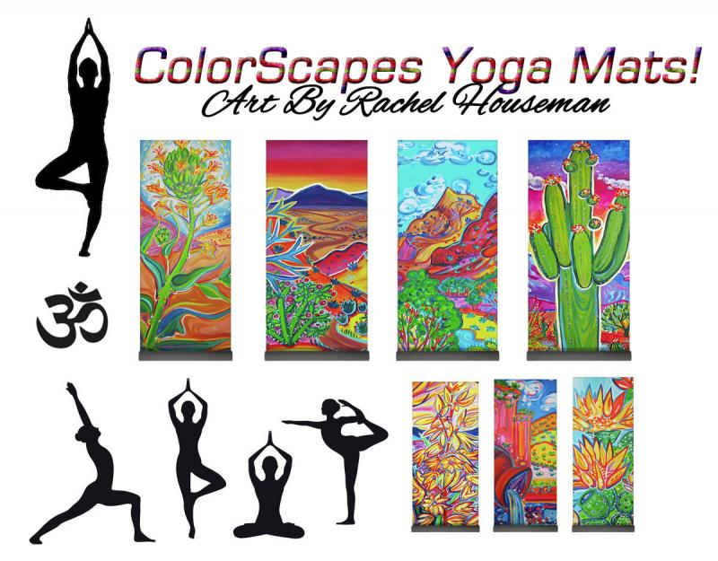 Rachel Houseman, ColorScapes Yoga Mat, Yoga Art, Collectable Yoga Mat by Rachel